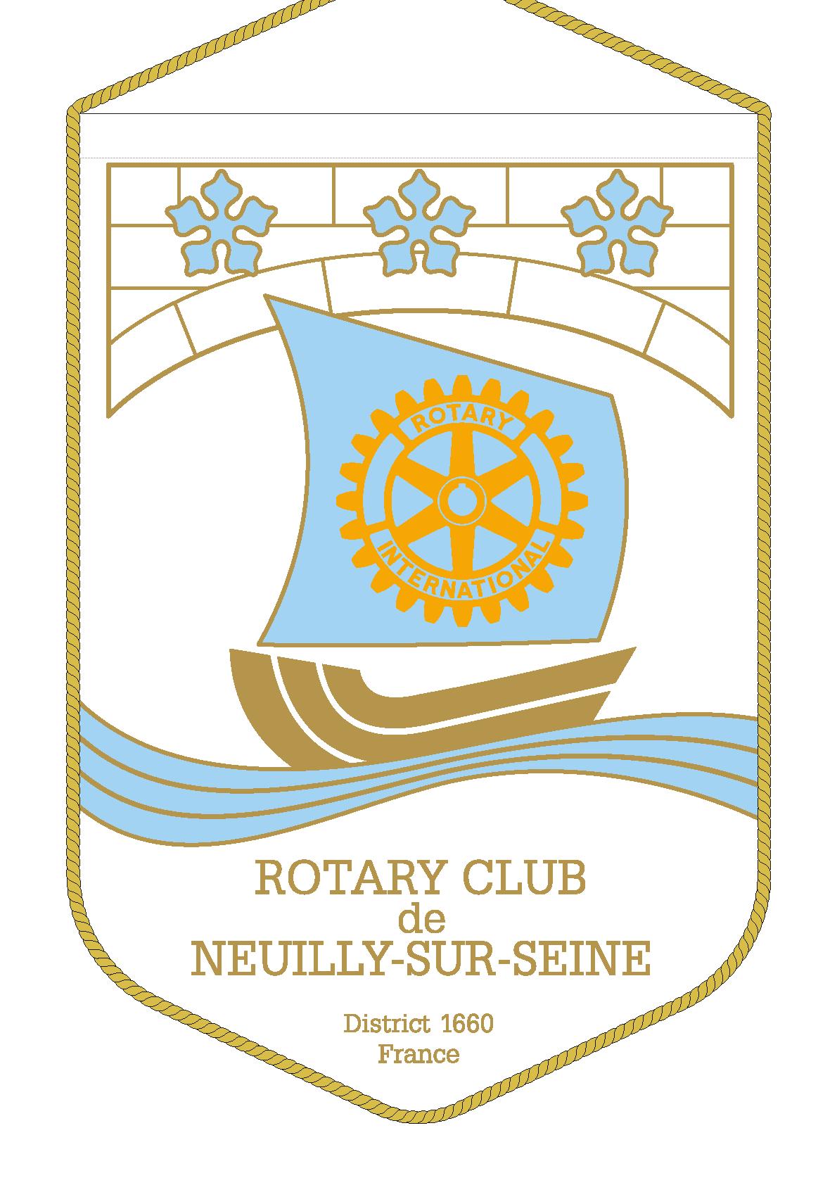 FANION ROTARY CLUB NEUILLY SUR SEINE