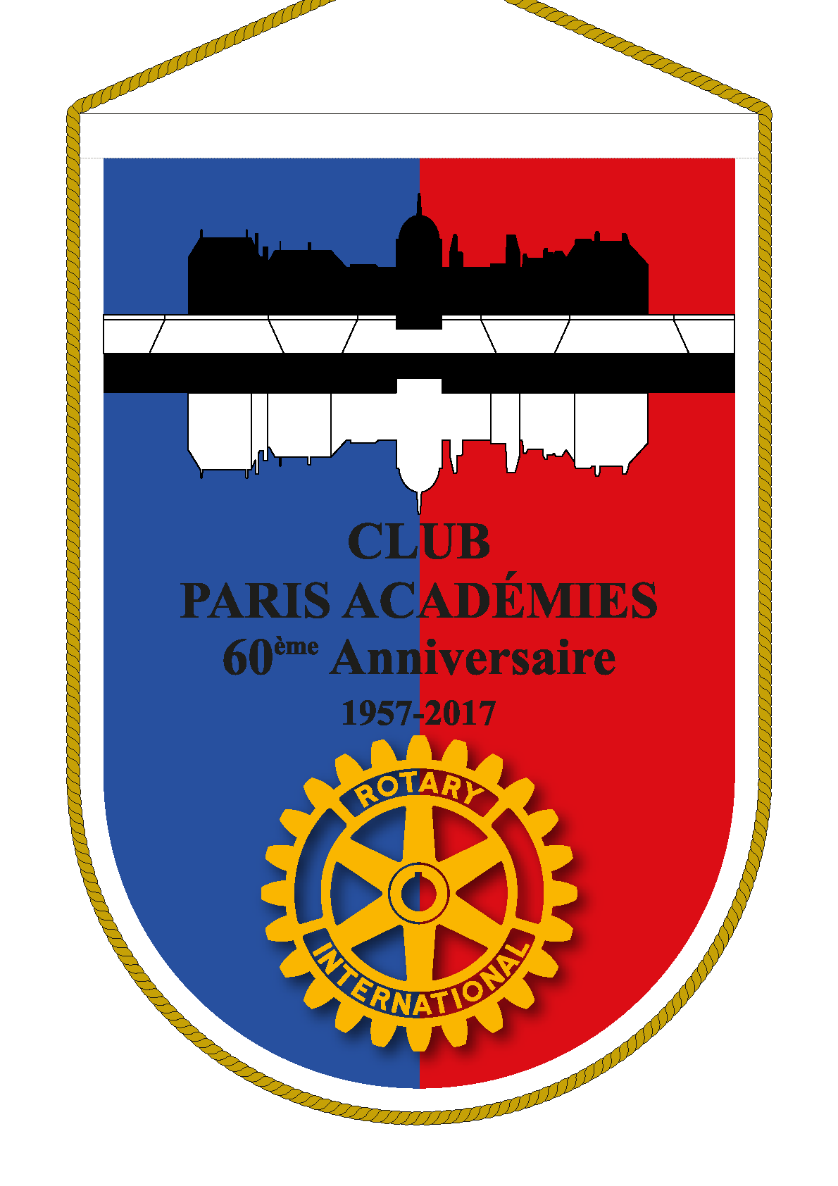 FANION ROTARY CLUB PARIS ACADEMIES