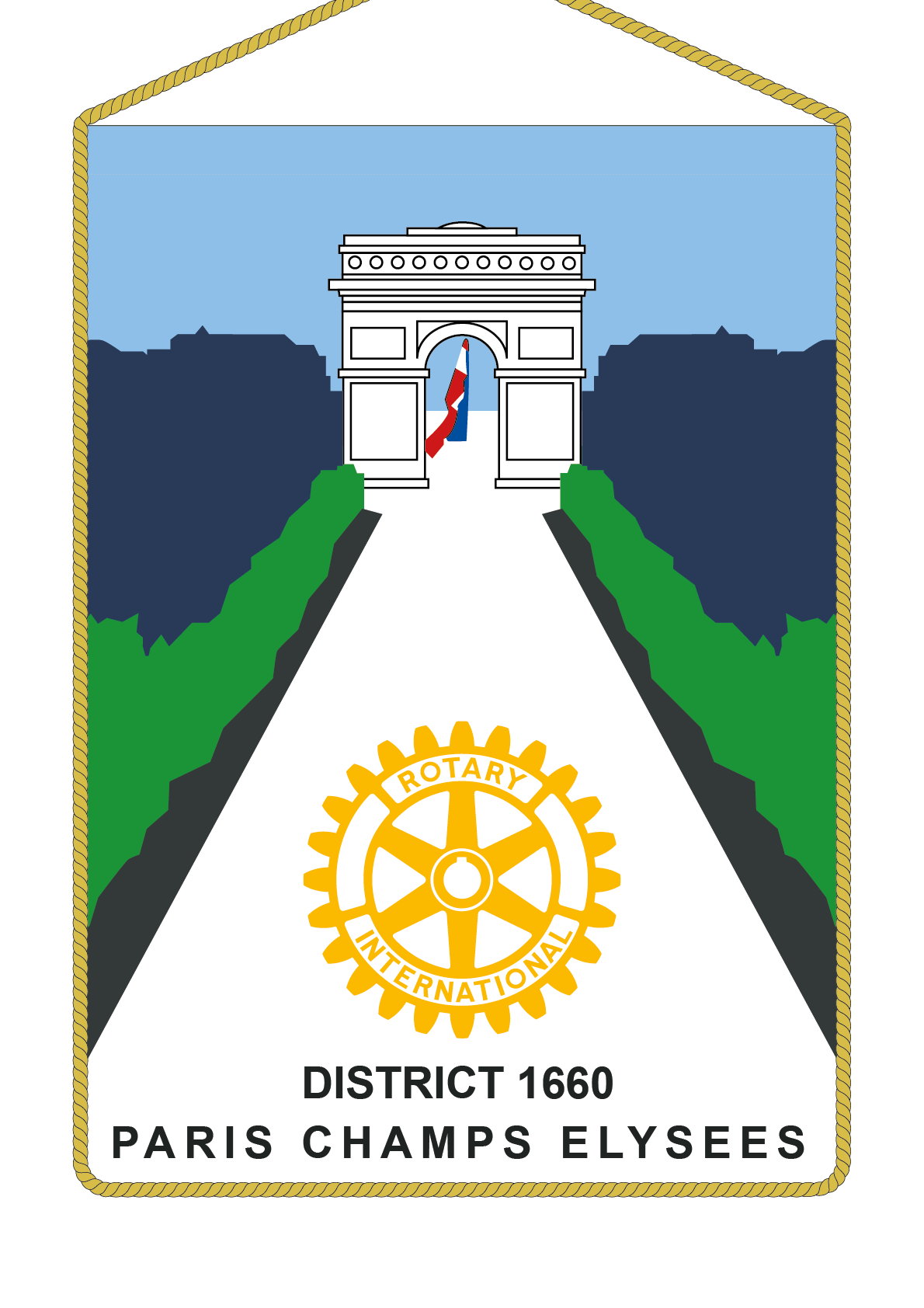 FANION ROTARY CLUB PARIS CHAMP ELYSEES
