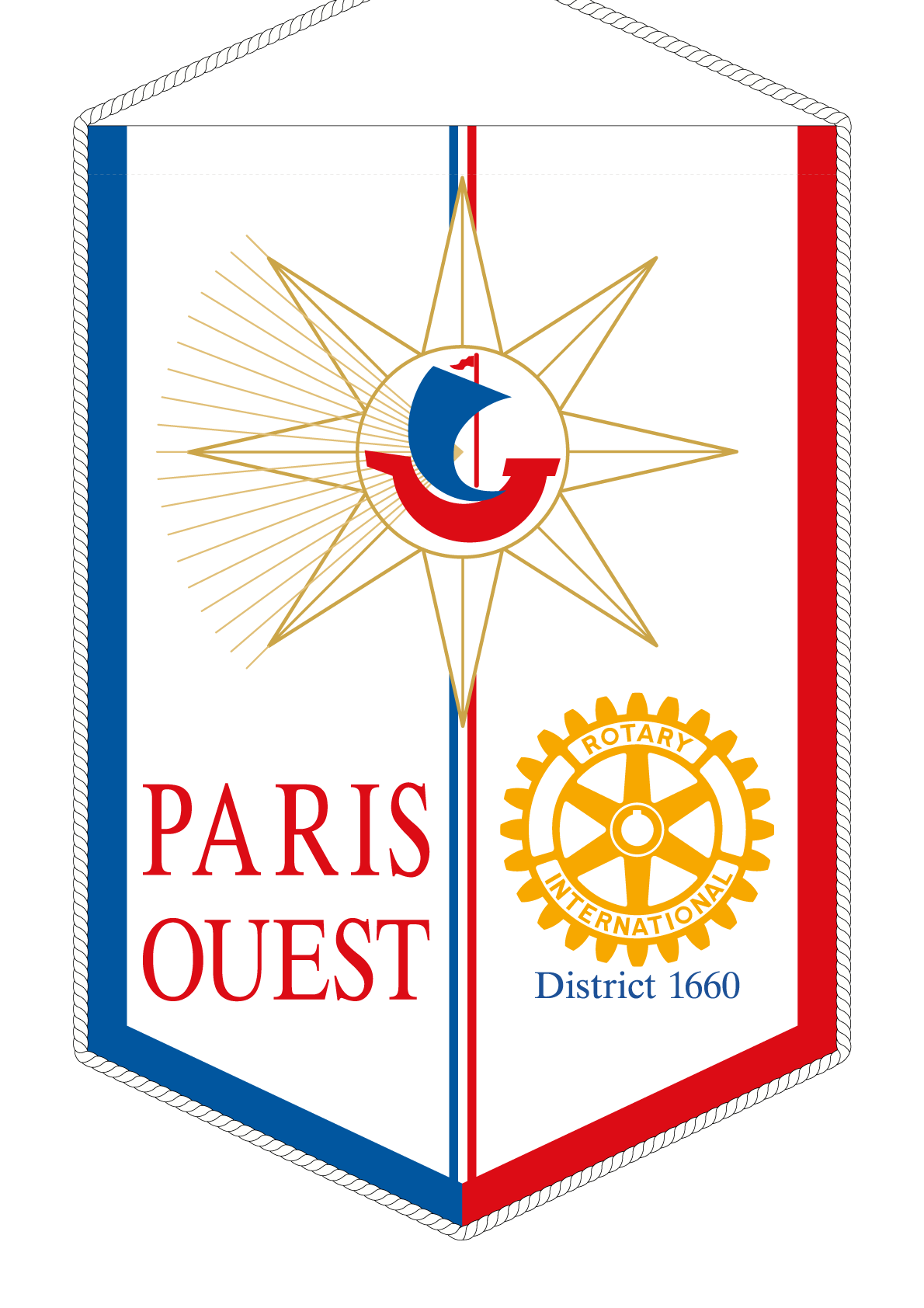 FANION ROTARY CLUB PARIS OUEST