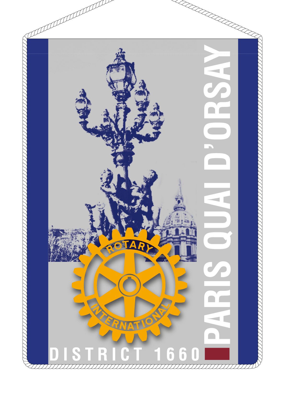 FANION ROTARY CLUB PARIS QUAI ORSAY