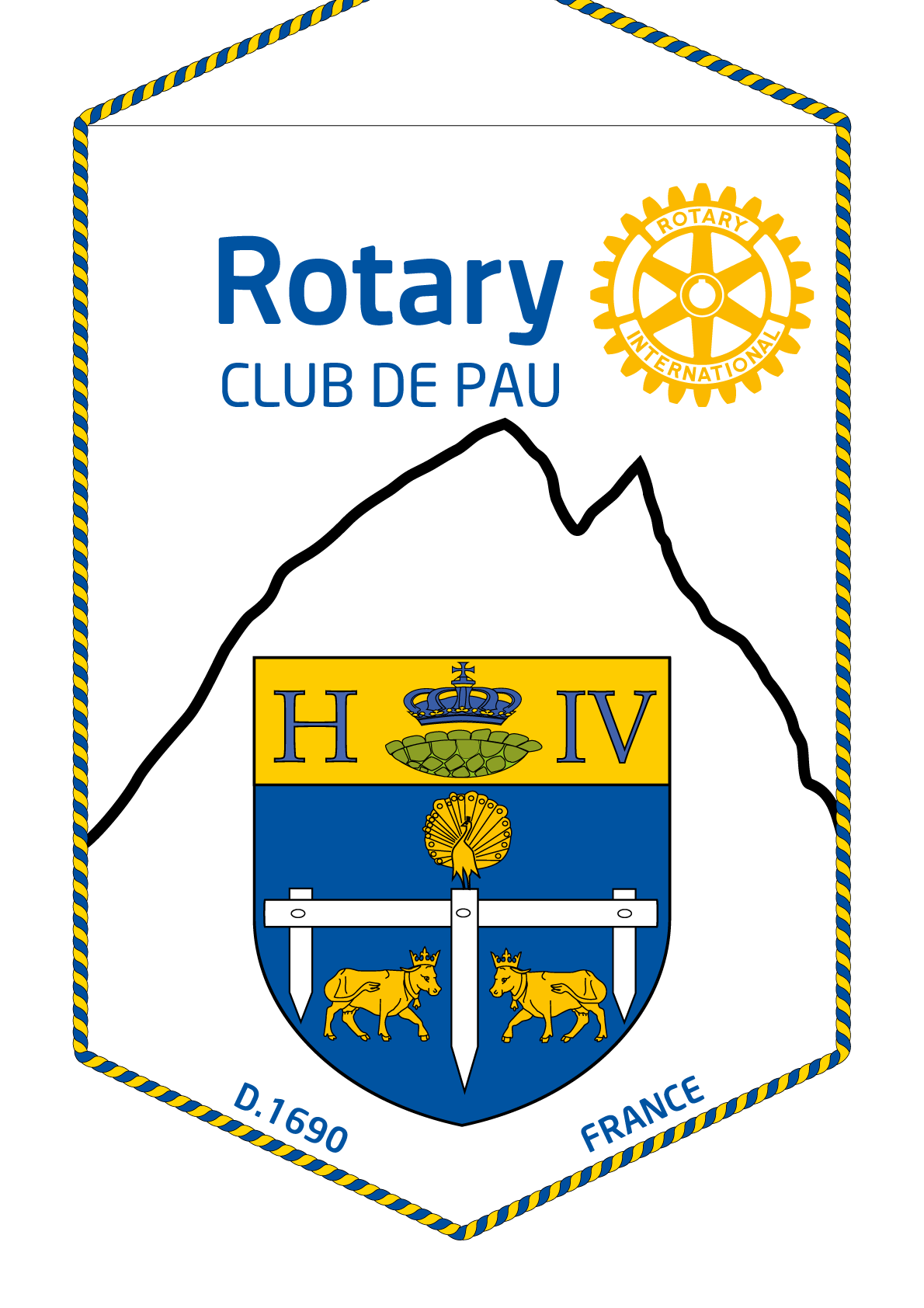 FANION ROTARY CLUB PAU