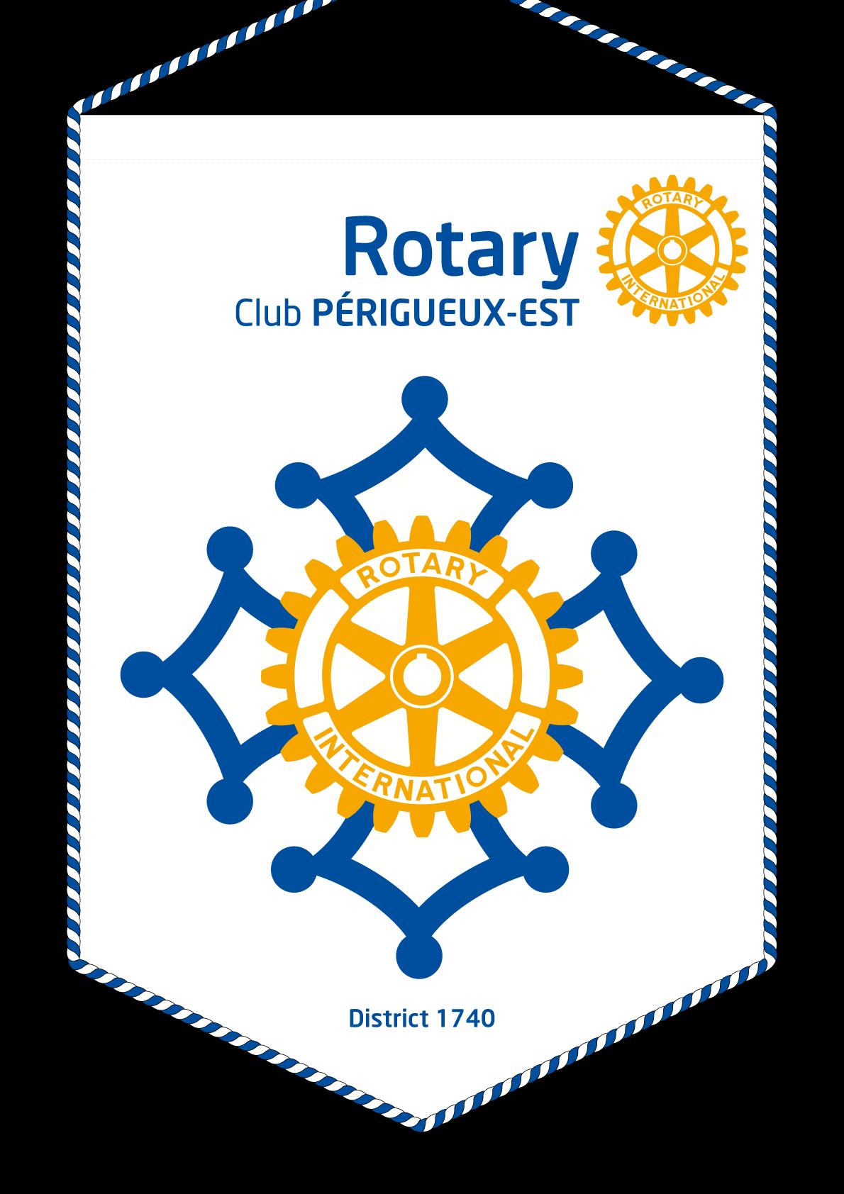 FANION ROTARY CLUB PERIGUEUX EST