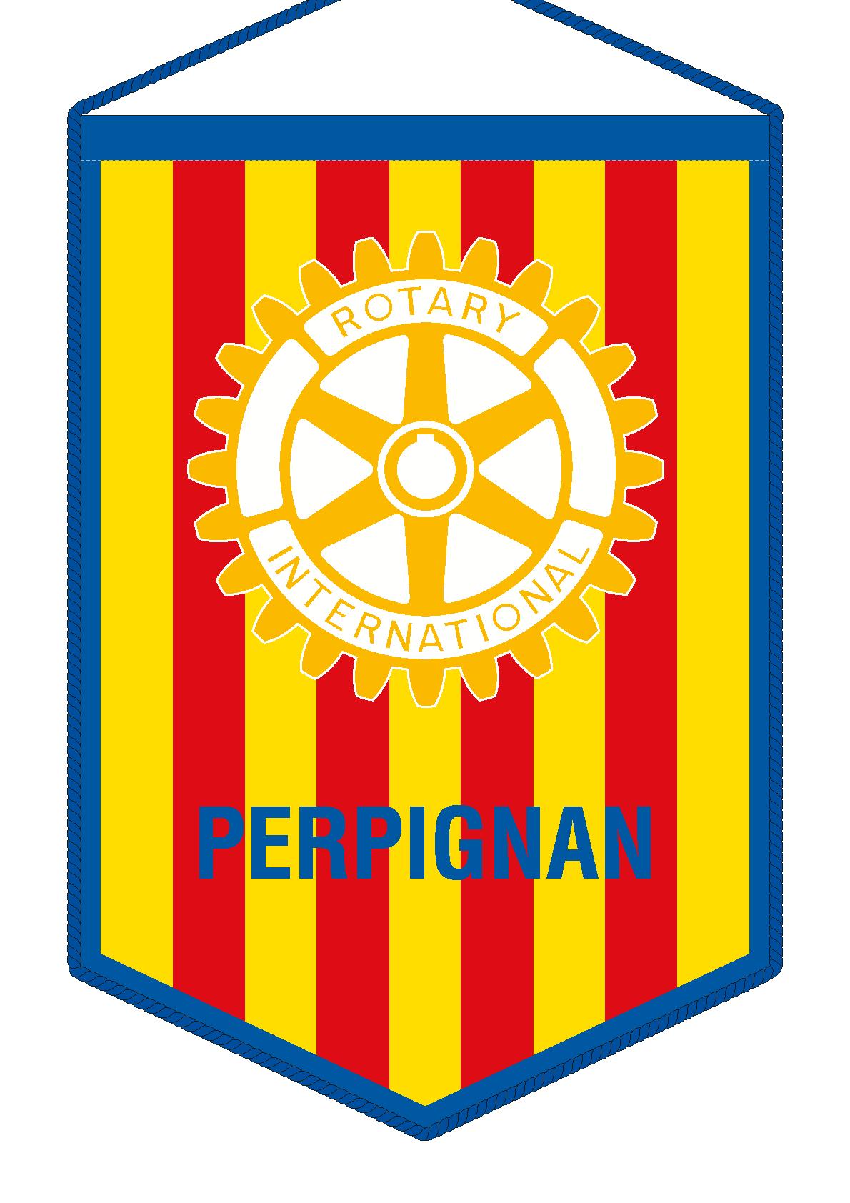 FANION ROTARY CLUB PERPIGNAN