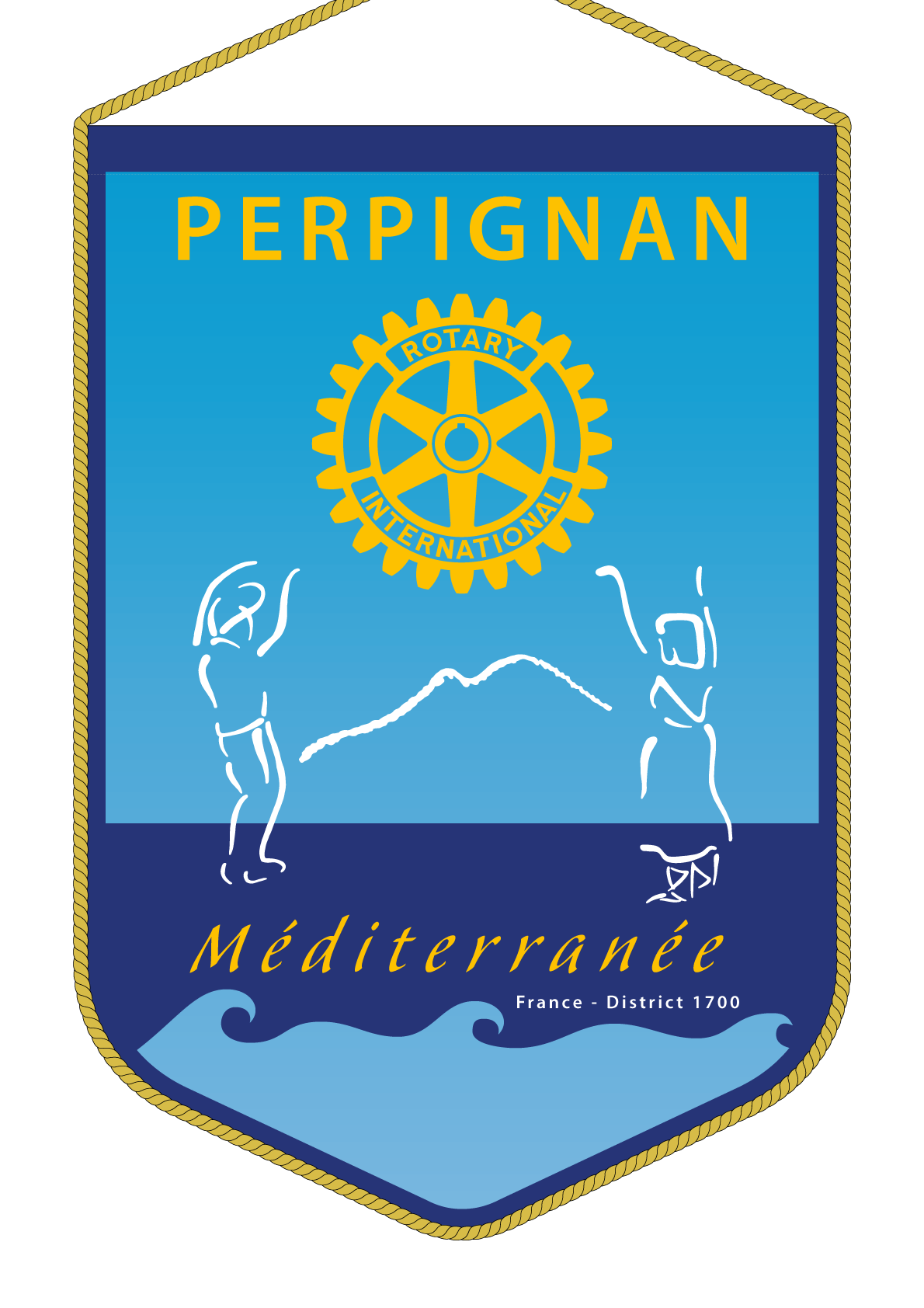 FANION ROTARY CLUB PERPIGNAN MEDITERRANEE