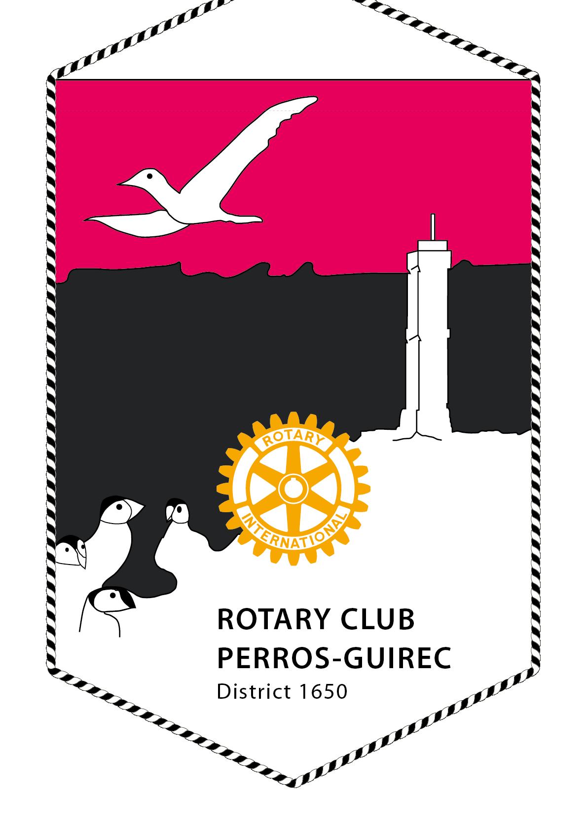 FANION ROTARY CLUB PERROS GUIREC