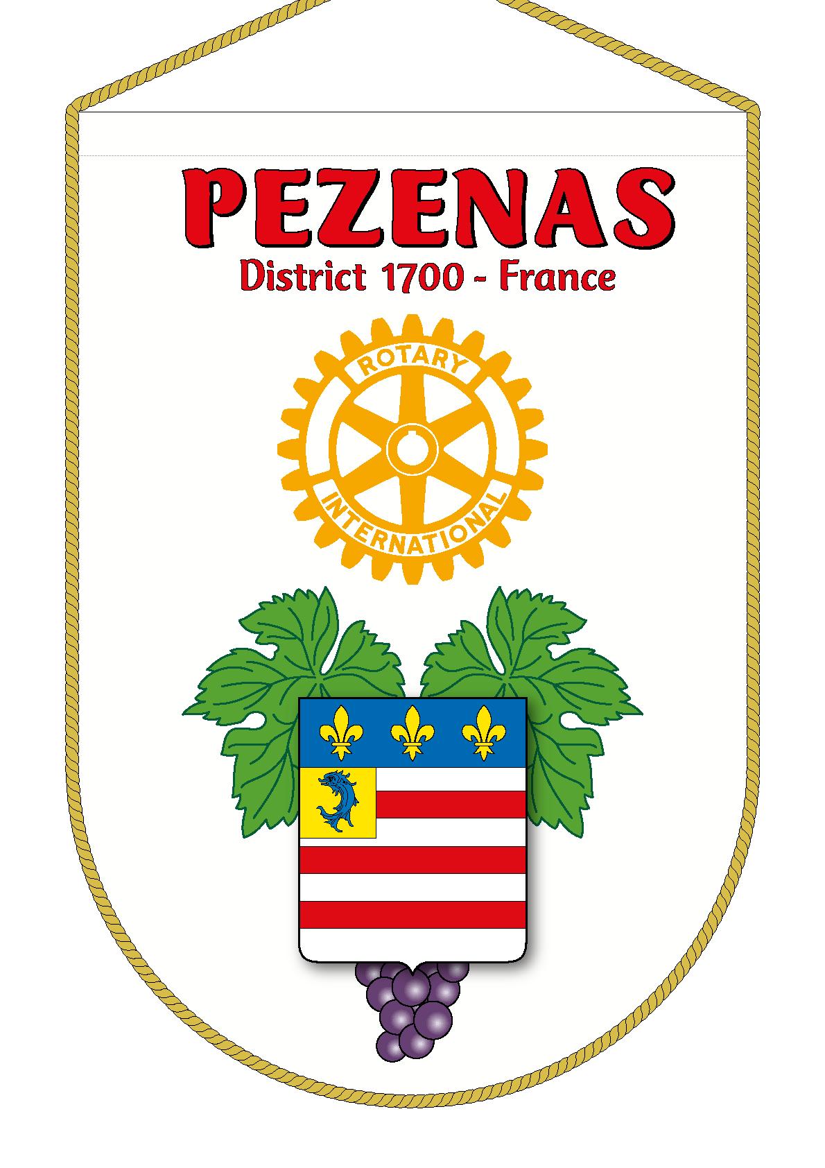 FANION ROTARY CLUB PEZENAS