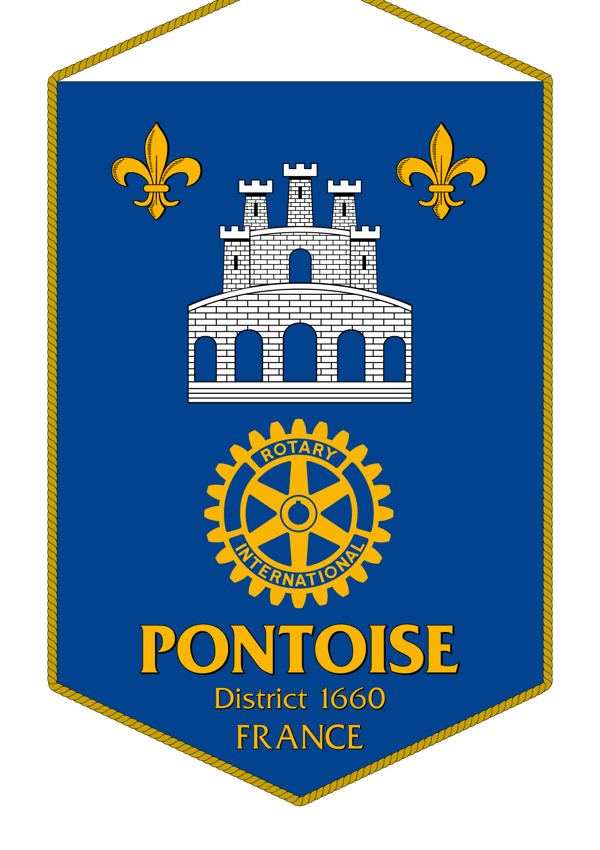 FANION ROTARY CLUB PONTOISE