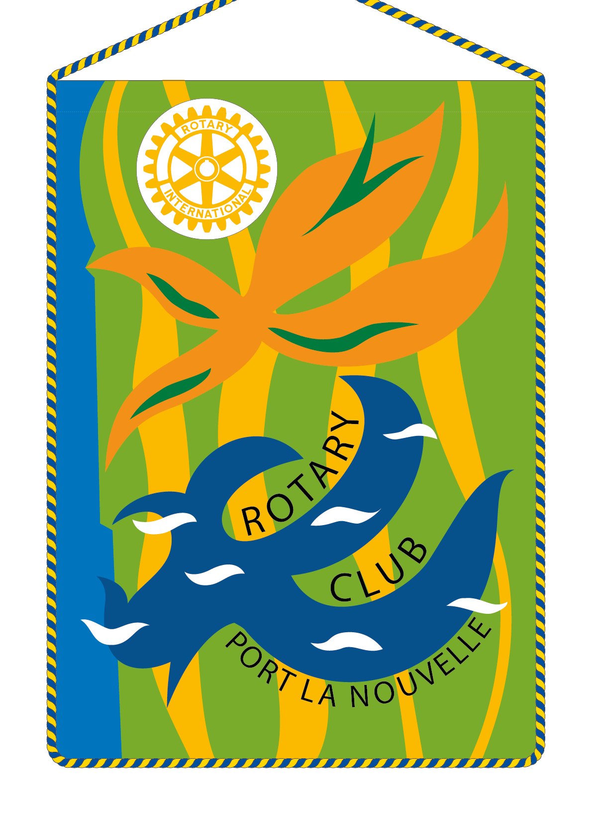 FANION ROTARY CLUB PORT LA NOUVELLE
