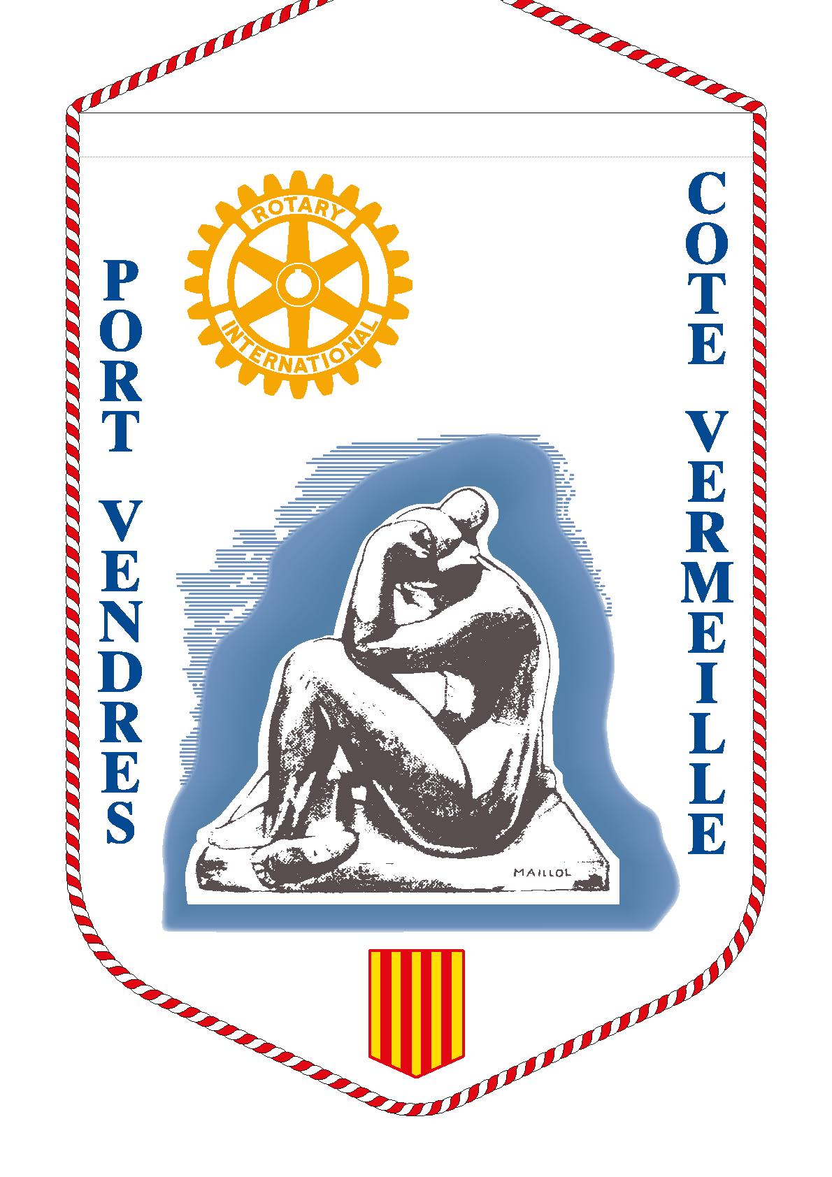 FANION ROTARY CLUB PORT VENDRES COTE VERMEILLE