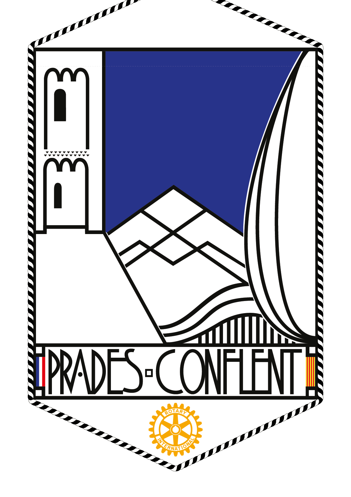 FANION ROTARY CLUB PRADES CONFLENT