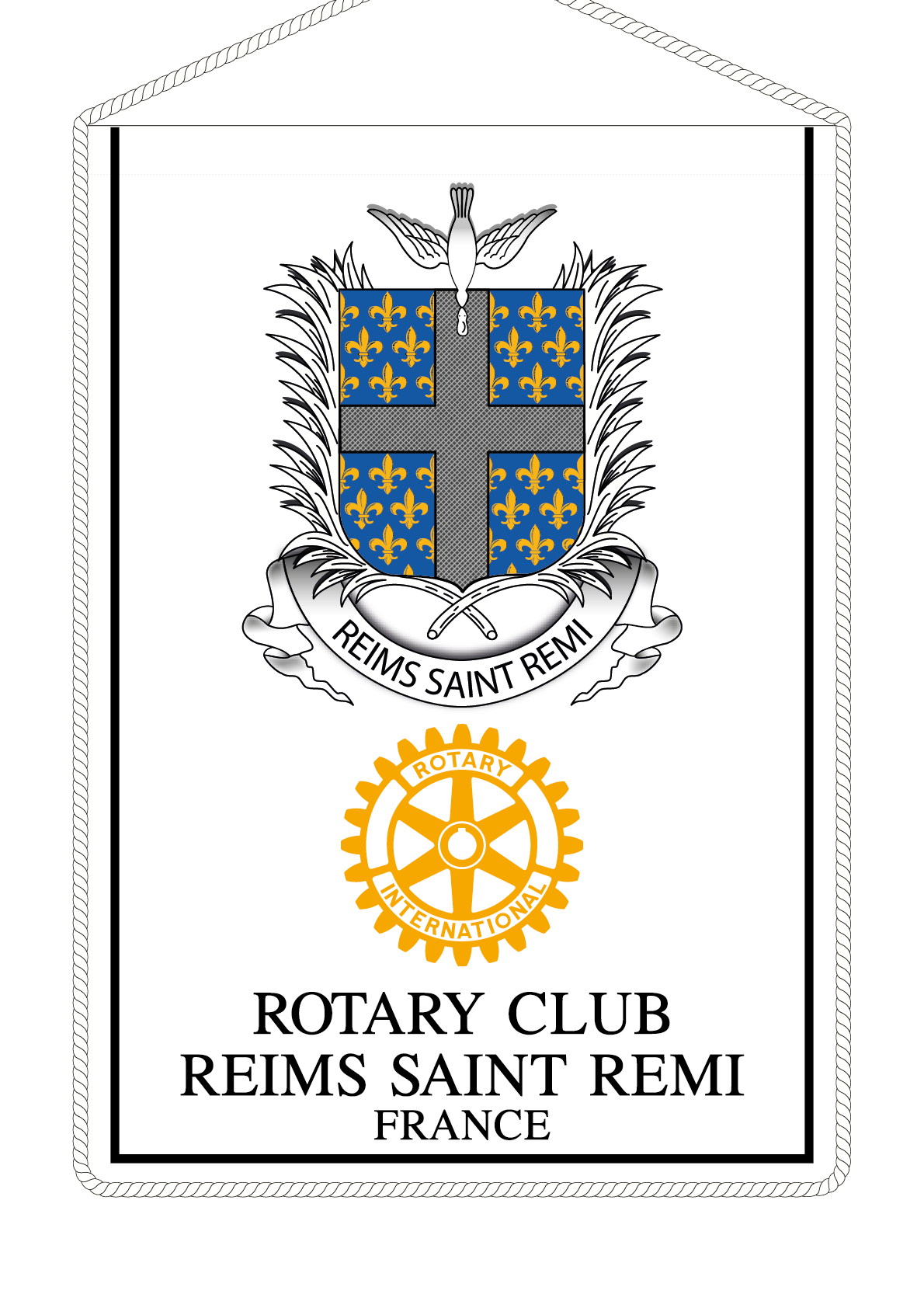 FANION ROTARY CLUB REIMS SAINT REMI