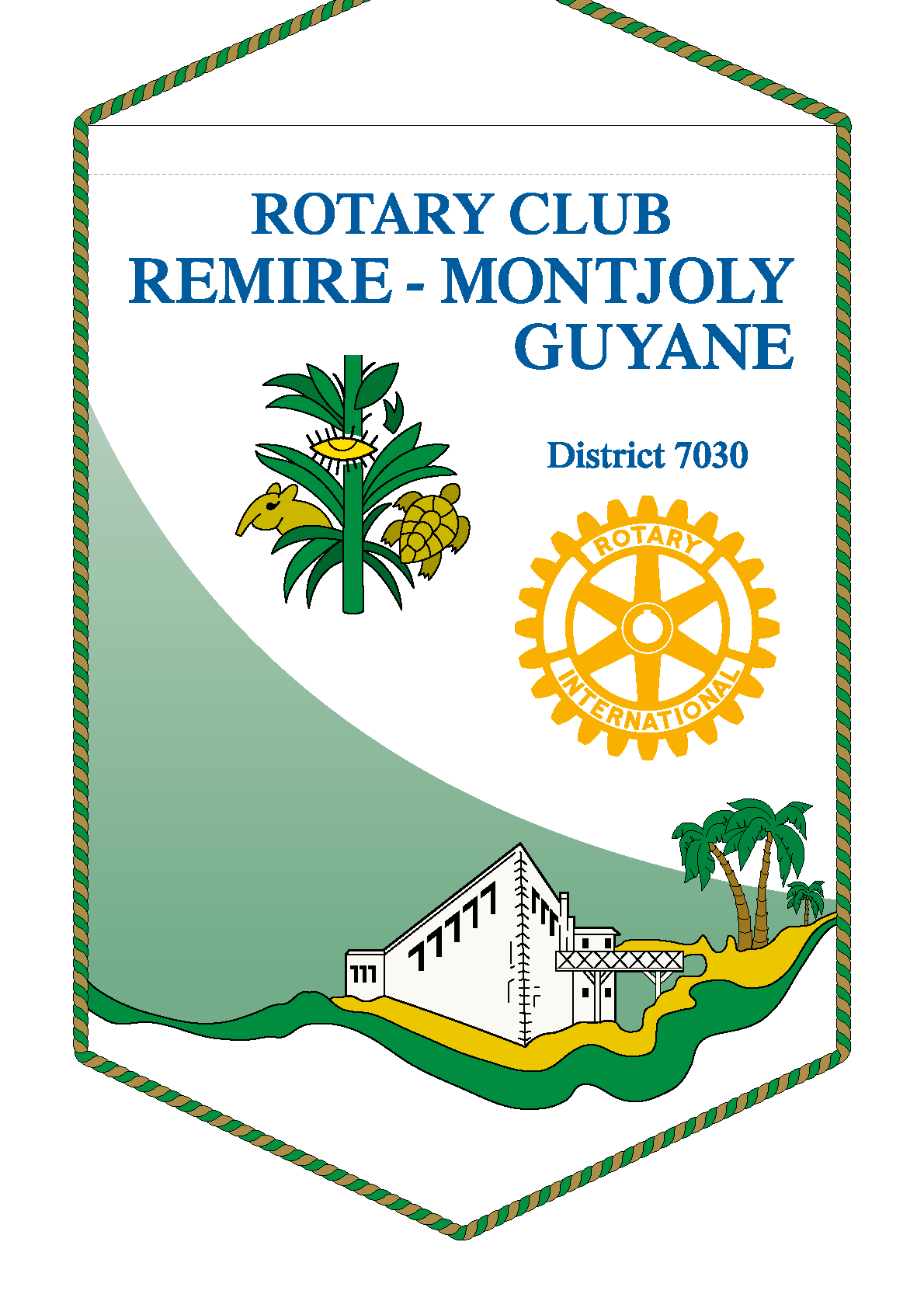 FANION ROTARY CLUB REMIRE MONTJOLY