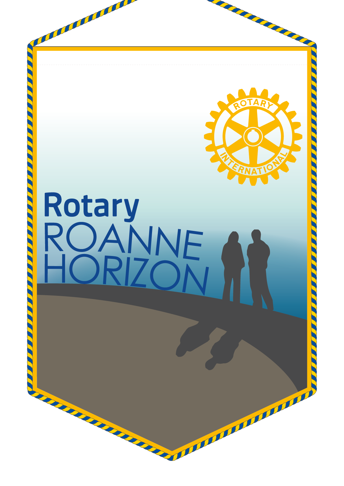 FANION ROTARY CLUB ROANNE HORIZON