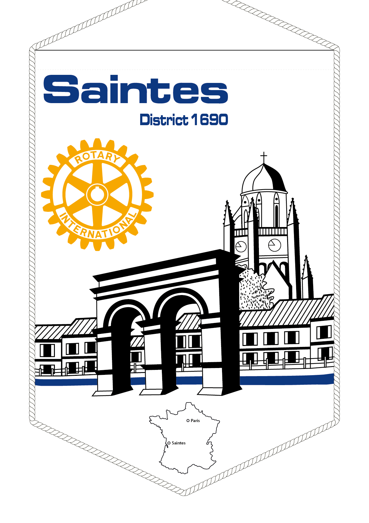 FANION ROTARY CLUB SAINTES