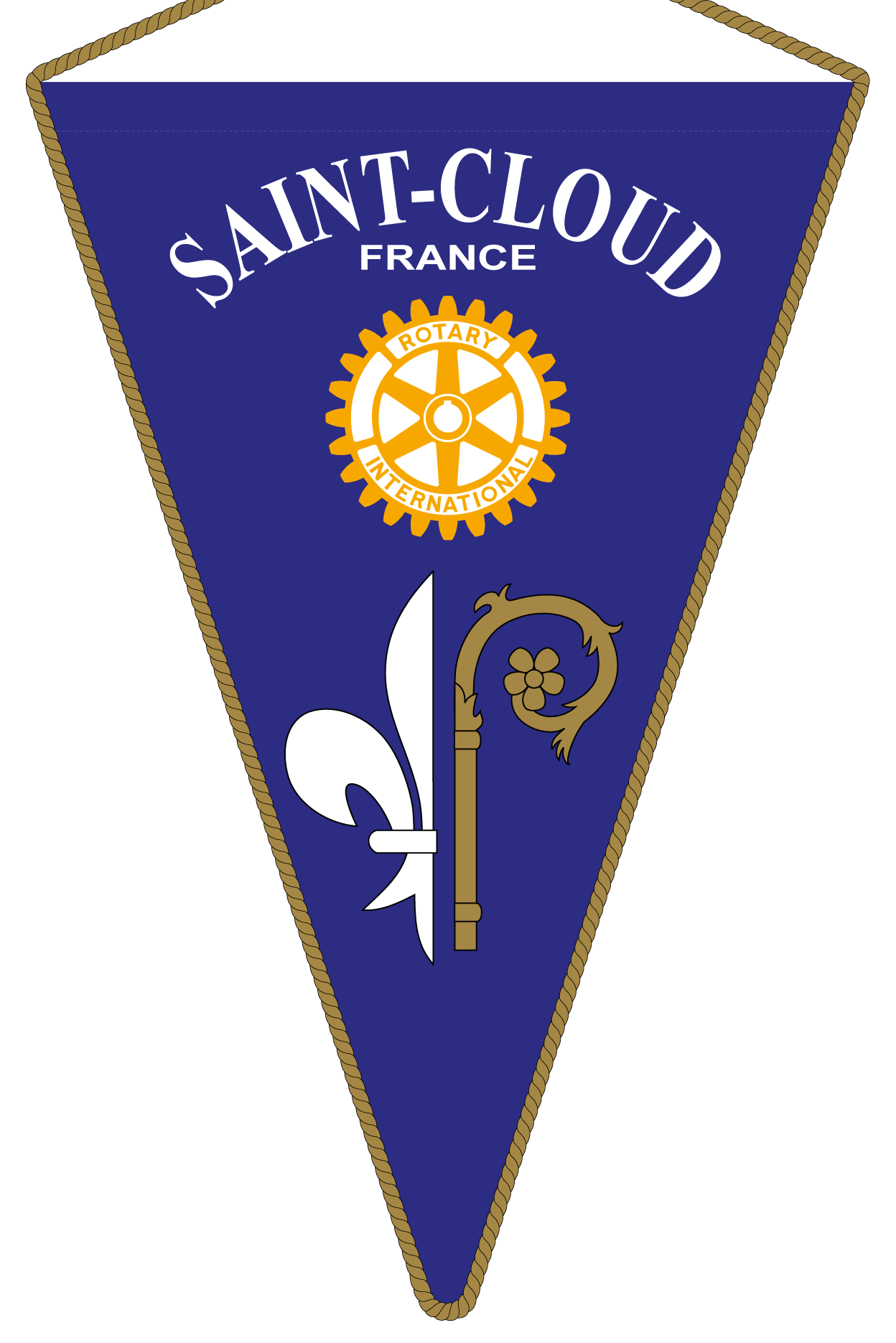FANION ROTARY CLUB SAINT CLOUD