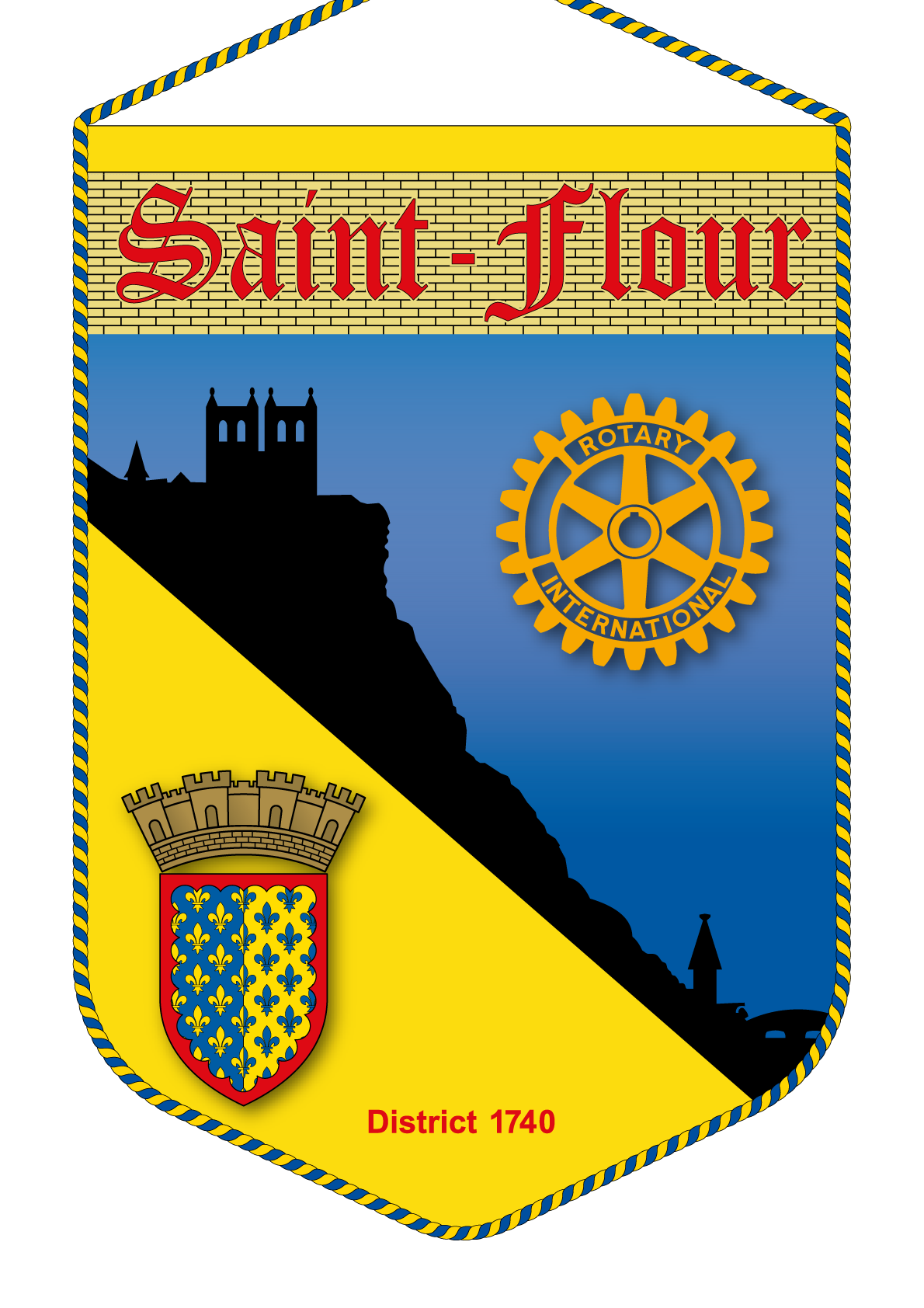 FANION ROTARY CLUB SAINT FLOUR