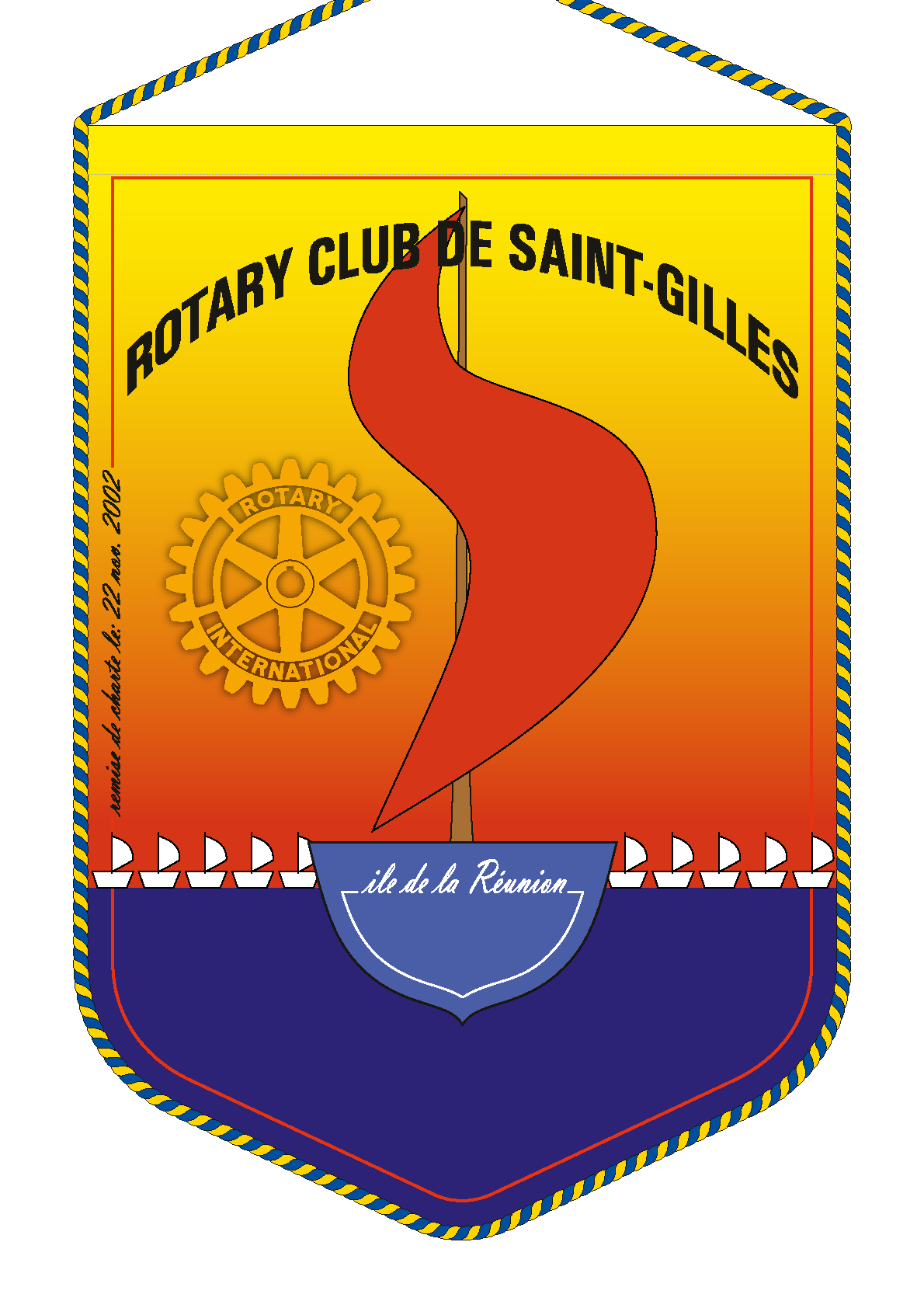 FANION ROTARY CLUB SAINT GILLES