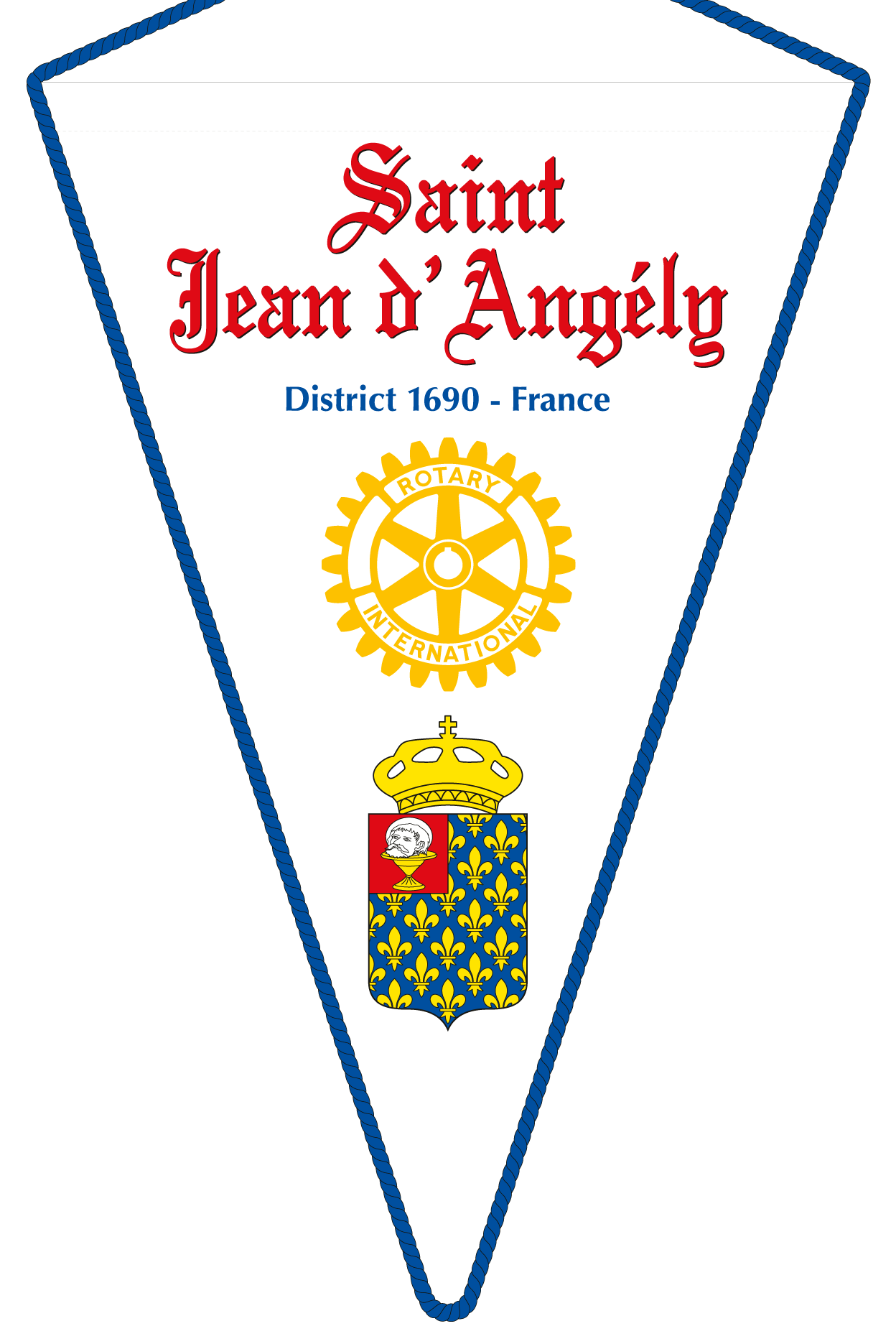 FANION ROTARY CLUB SAINT JEAN ANGELY