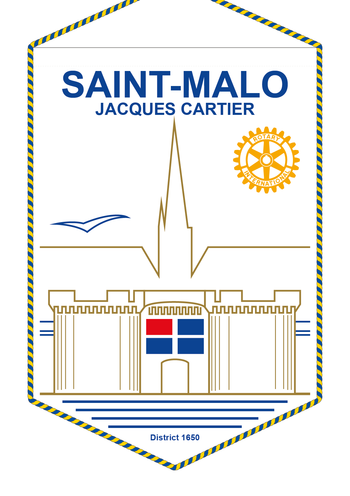 FANION ROTARY CLUB SAINT MALO JACQUES CARTIER
