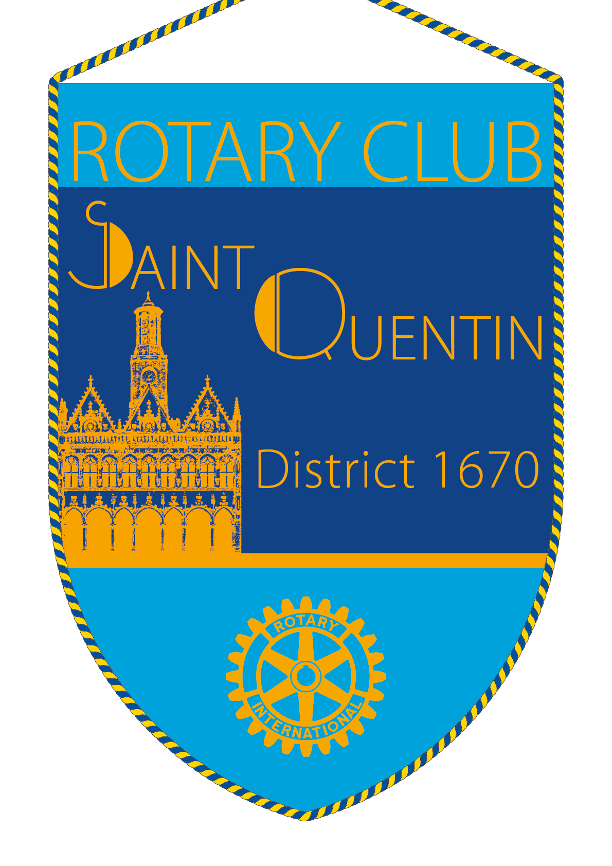 FANION ROTARY CLUB SAINT QUENTIN