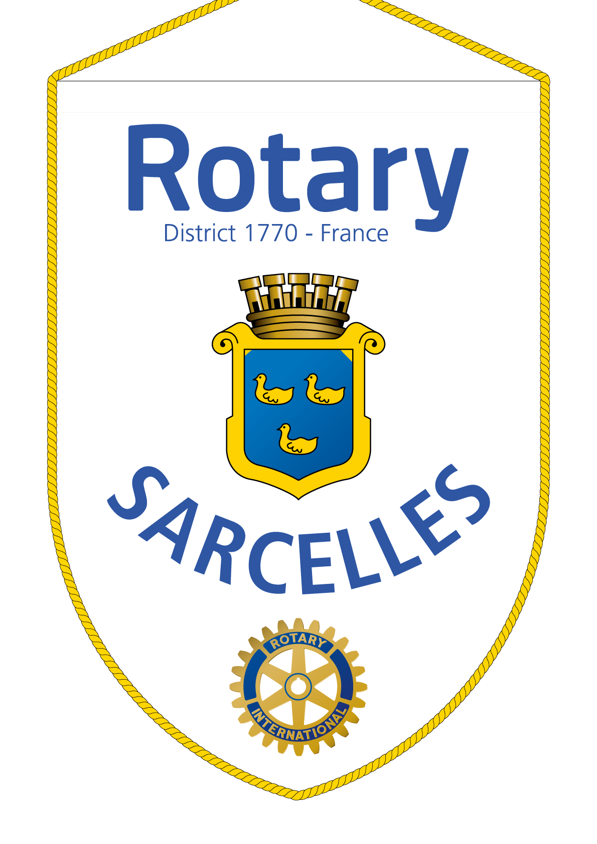 FANION ROTARY CLUB SARCELLES