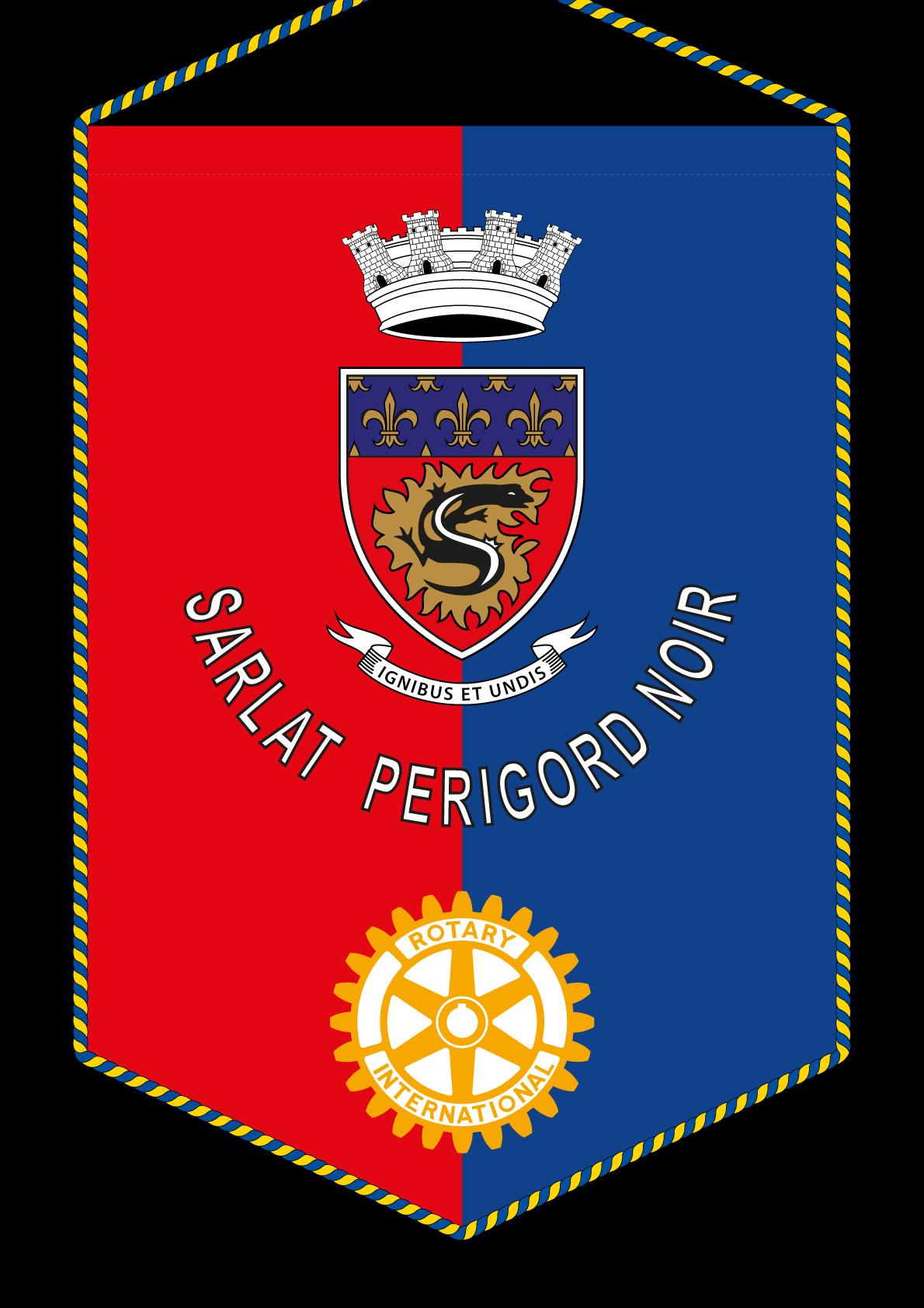 FANION ROTARY CLUB SARLAT PERIGORD NOIR