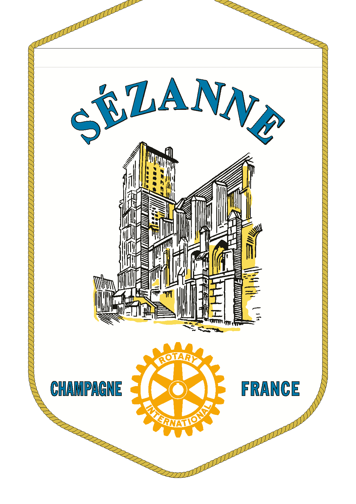 FANION ROTARY CLUB SEZANNE