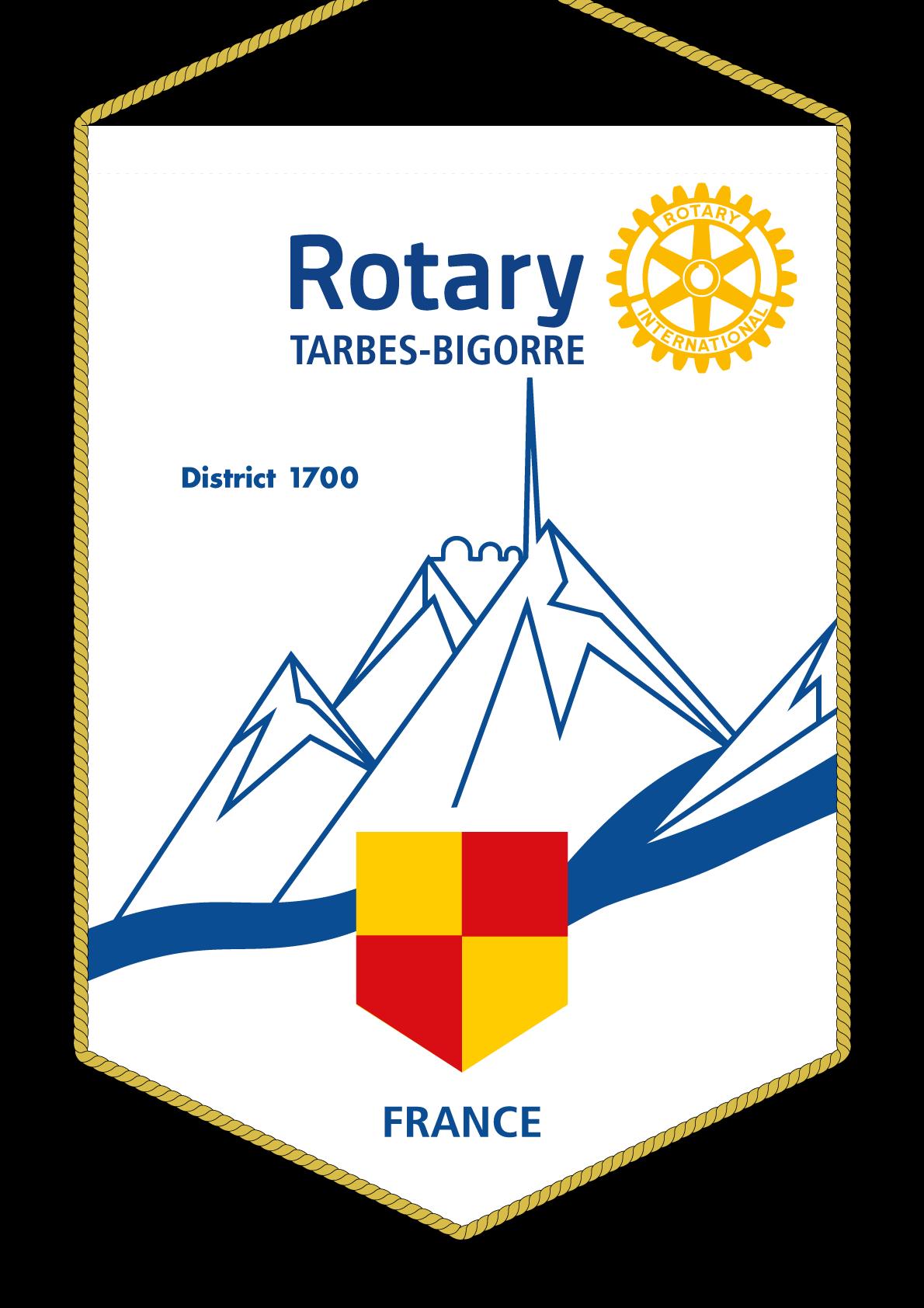 FANION ROTARY CLUB TARBES BIGORRE