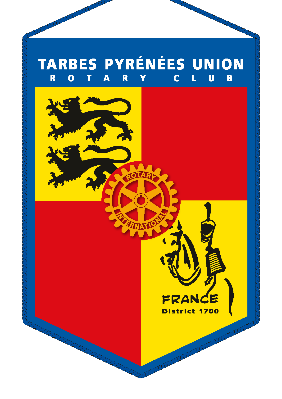 FANION ROTARY CLUB TARBES PYRENEES_UNION