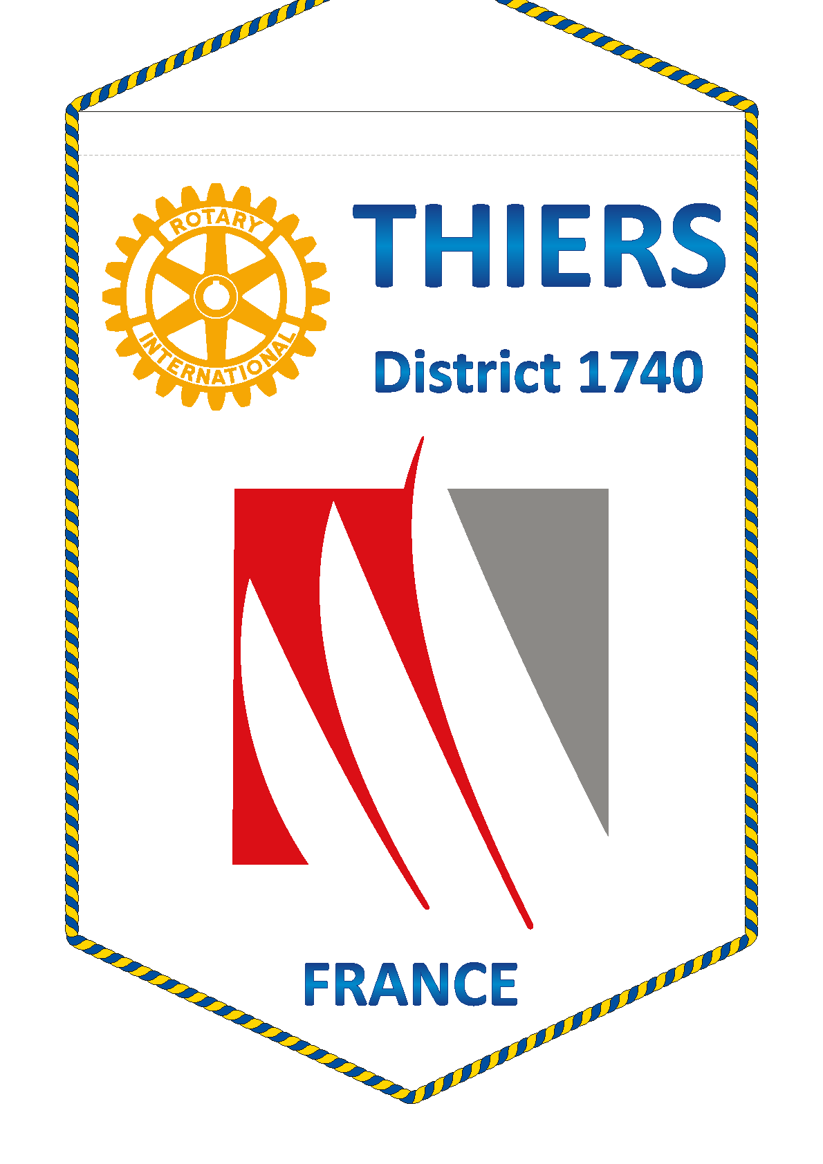 FANION ROTARY CLUB THIERS