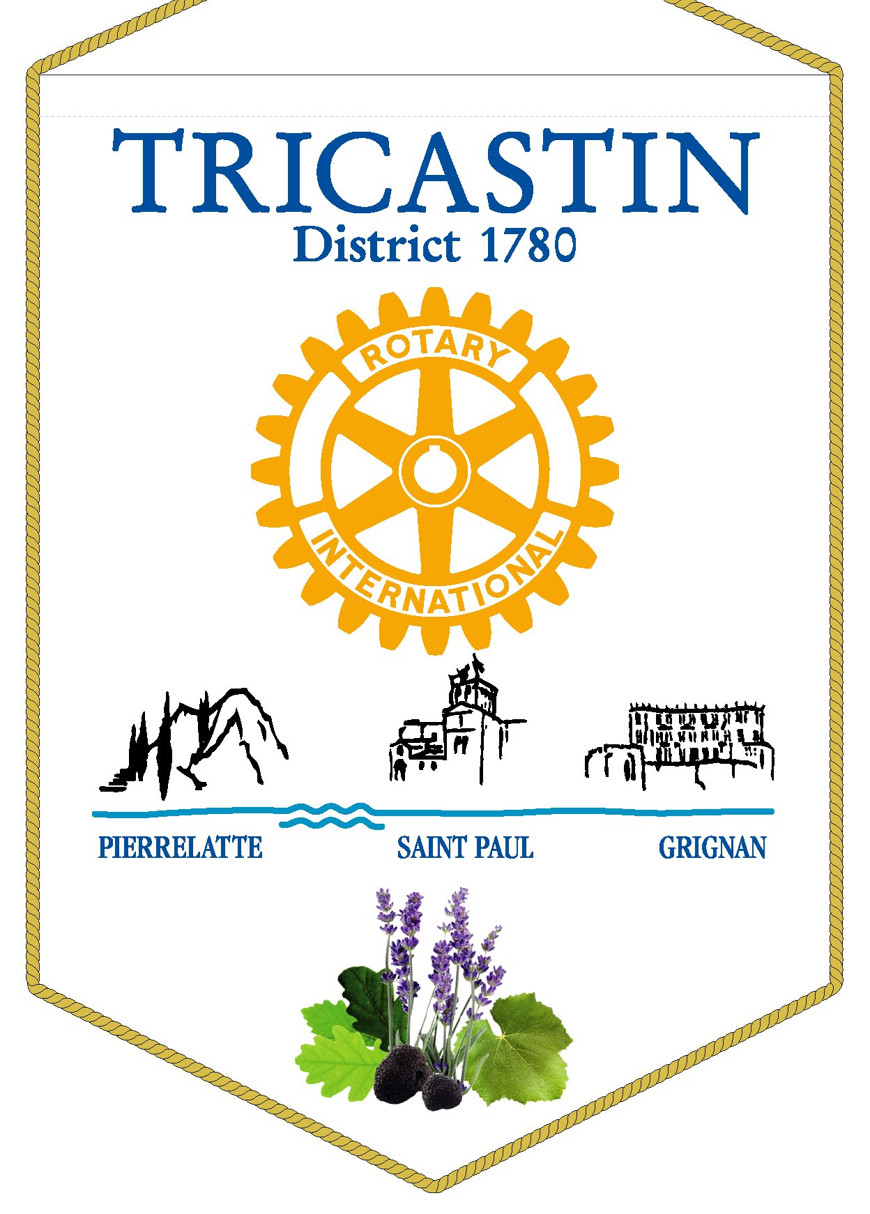 FANION ROTARY CLUB TRICASTIN