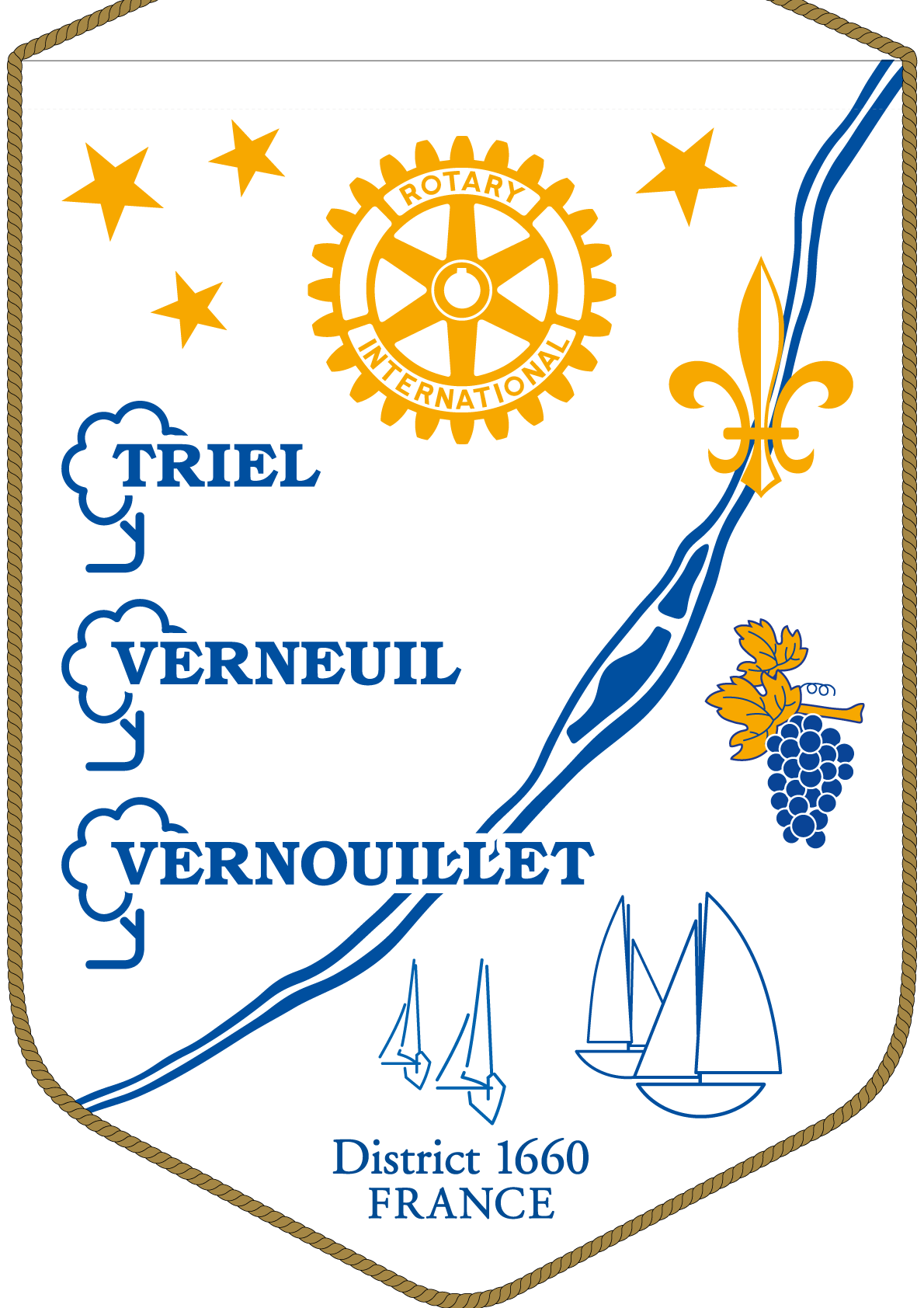 FANION ROTARY CLUB TRIEL VERNEUIL VERNOUILLET