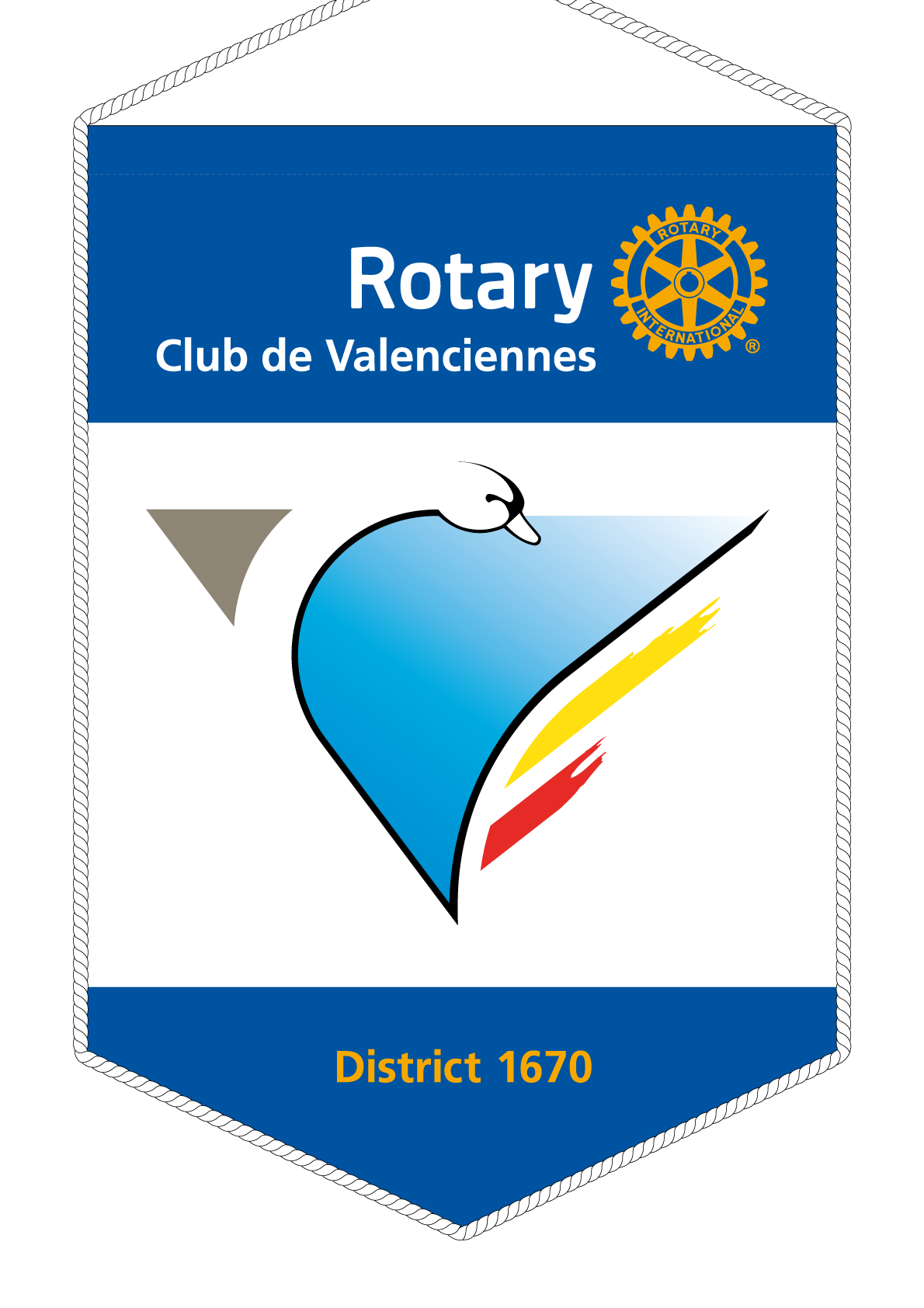 FANION ROTARY CLUB VALENCIENNES