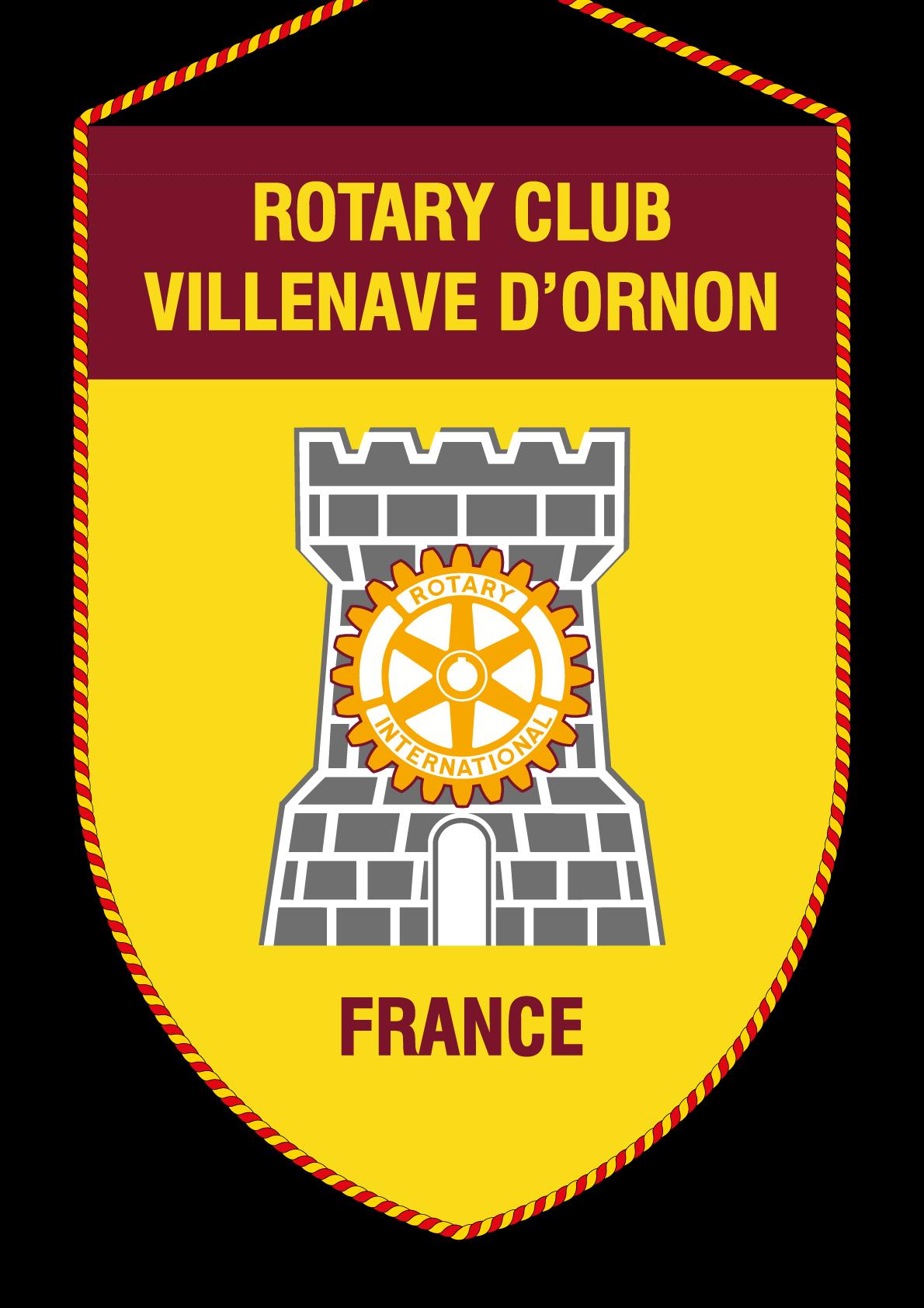 FANION ROTARY CLUB VILLENAVE ORNON