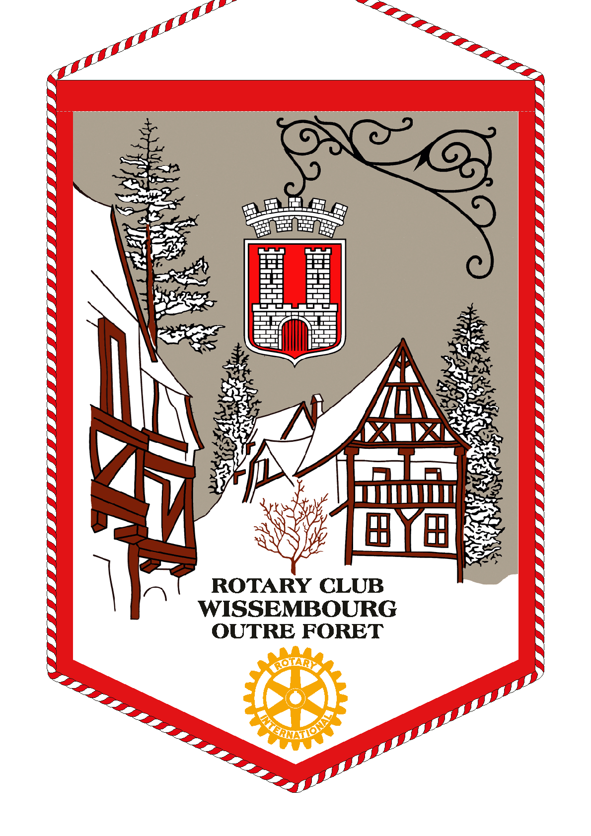 FANION ROTARY CLUB WISSEMBOURG