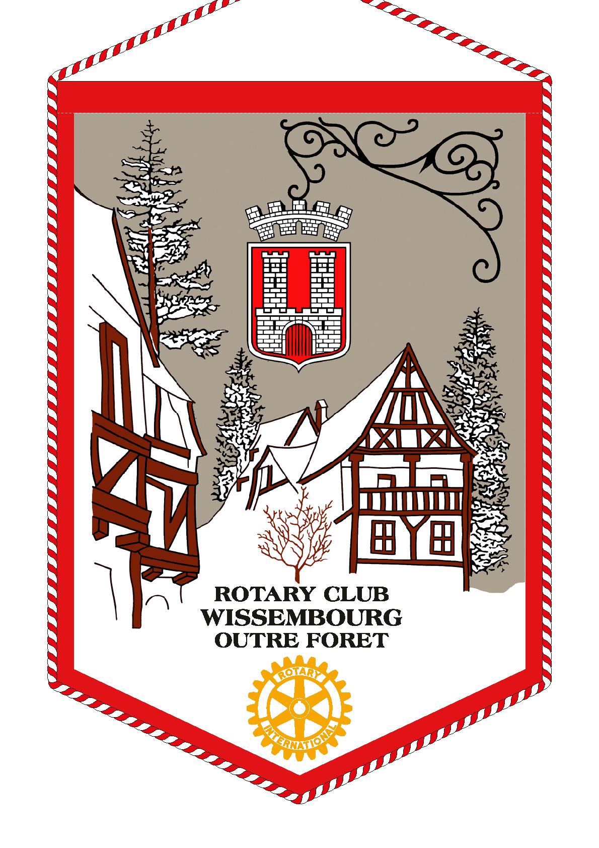 FANION ROTARY CLUB WISSEMBOURG