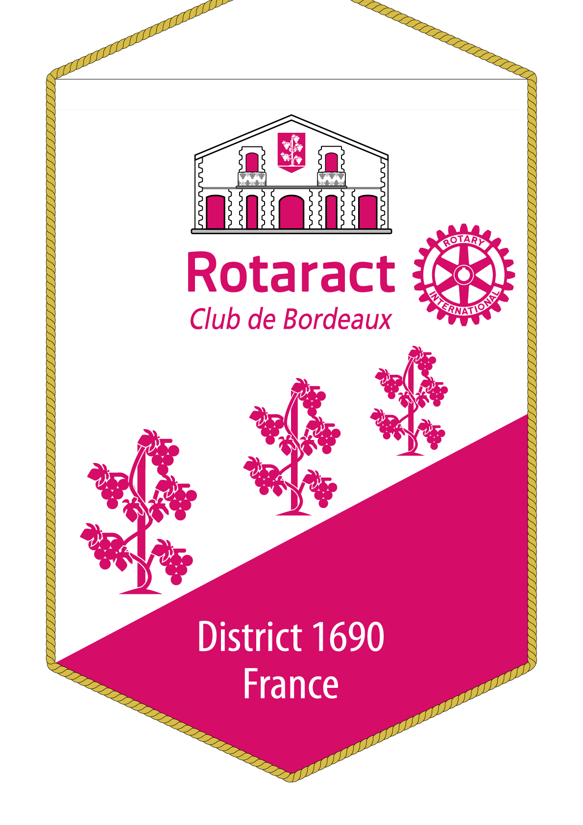FANION ROTARACT CLUB BORDEAUX