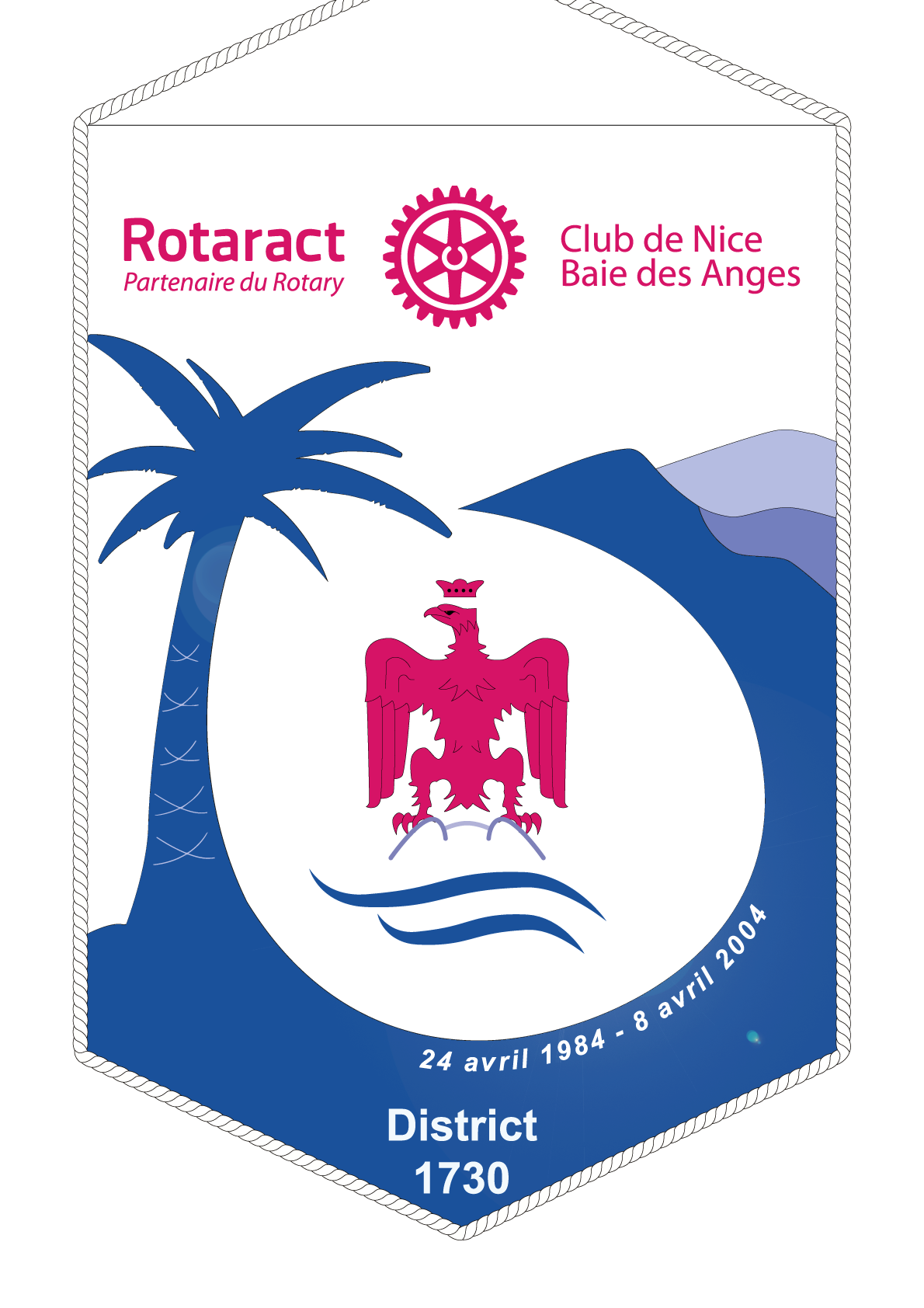 FANION ROTARACT CLUB NICE BAIE DES ANGES