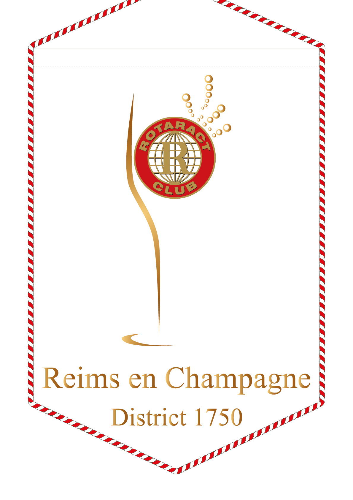 FANION ROTARACT CLUB REIMS EN CHAMPAGNE
