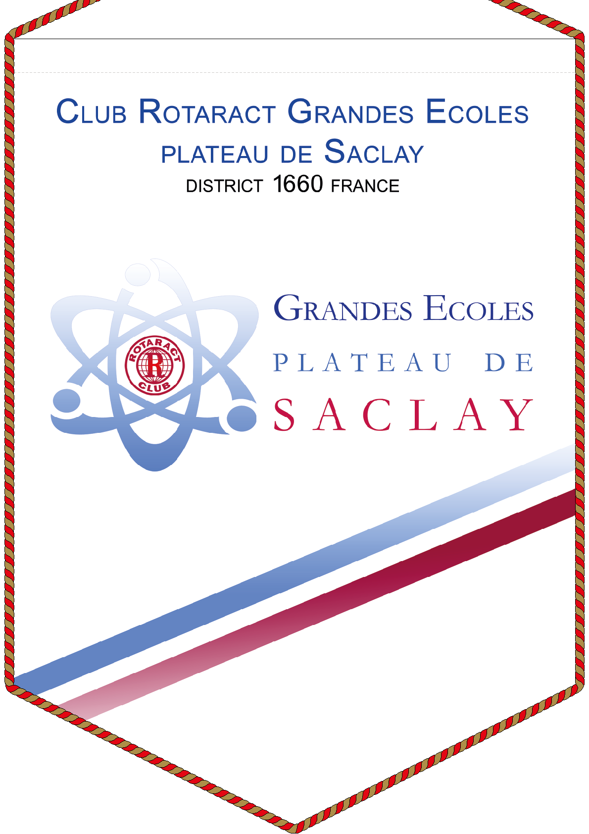 FANION ROTARACT CLUB SARCLAY GRANDES ECOLES