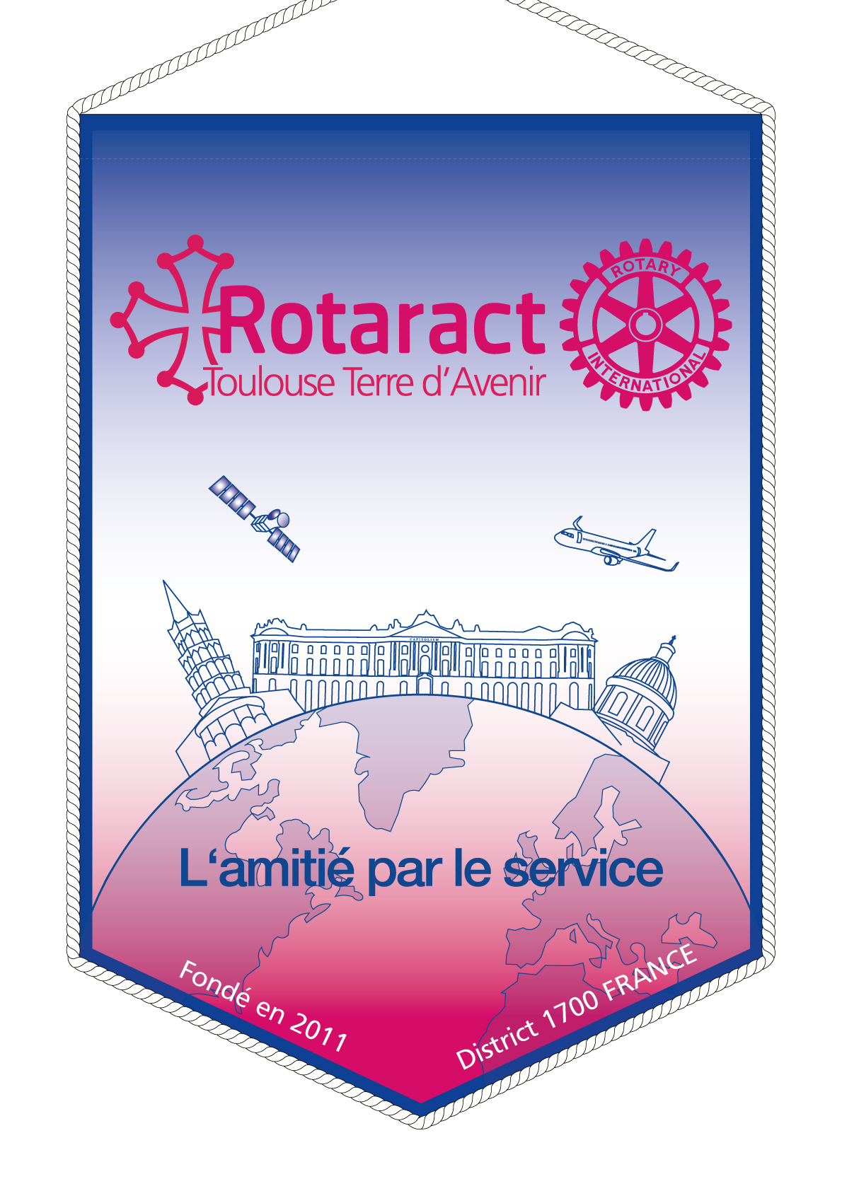 FANION ROTARACT CLUB TOULOUSE TERRE AVENIR